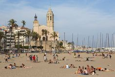 The beach at Sitges is a short train journey from Barcelona. Image by Ken Welsh / Getty images.