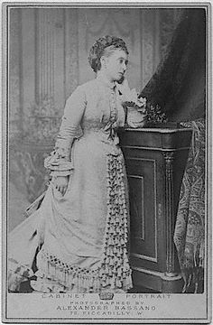 Princess Louis of Hesse, nee Princess Alice of the United Kingdom, the second daughter and third child of Queen Victoria and Prince Albert. Photographed by Alexander Bassano, 1875.
