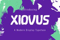 Xiovus Typeface by Seemly Fonts on @creativemarket
