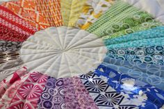 True Colors Modern Dresden Circle Quilt
