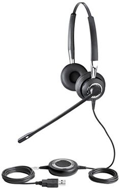 Jabra BIZ 2400 USB UC Duo Corded Headset for Softphone and Mobile Phone *** Read more reviews of the product by visiting the link on the image.