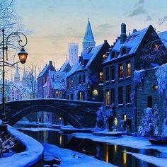 Brugge, Belgium  Via: @inzhili.05  /