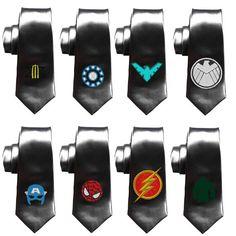 Necktie, mens tie, Superhero necktie, mens ties skinny tie, geek wedding tie, superhero wedding, flash, spiderman, wolverine