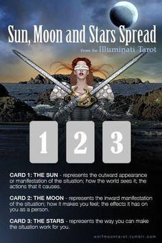 Sun, Moon and Stars Spread #tarotcardstips