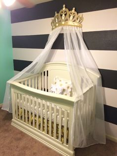 Princess Crowns Canopies Baby Fever For The Home Shade Structure & Crib Crown Canopy Wall Decor Gold with Sheer Panels | Canopy ...