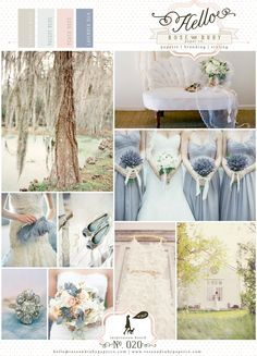 Dusky Blue Wedding idea