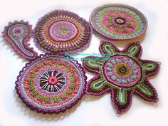 1606 best images about Freeform Gypsy Crochet, Freeform Crochet, Crochet Granny, Irish Crochet, Free Crochet, Knit Crochet, Crochet Paisley, Crochet Flowers, Handmade Flowers