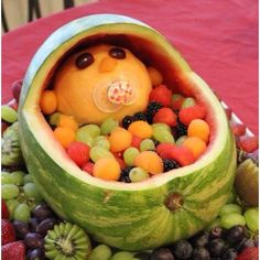 Fruit bowl for babyshowers.