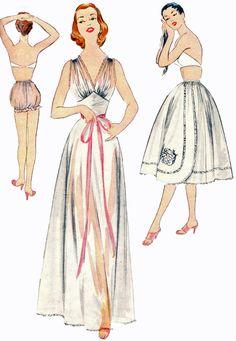 McCalls 3029 1950s Misses Petticoat V Neck by retromonkeys on Etsy, $35.00