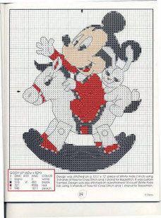 Baby Mickey - riding a rocking horse