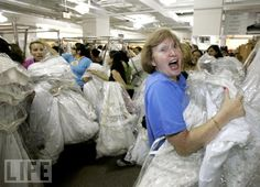 Running of the Brides -- remember when -- only at Filene's Basement!!