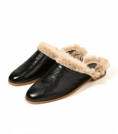 Zara Lined Leather Clogs