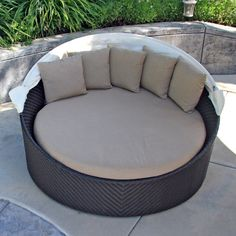 Inspiring Open Spaces Furnishings Ideas With Wicker Curved Modern ...