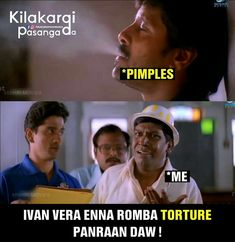 Tamil Comedy Memes, Funny Comedy, Funniest Things, Funniest Memes, Funny Mems, Movie Memes, School Memories, Old Movies, Arya