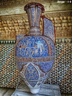 Jarron de las gacelas, arte nazarí. Alhambra de Granada