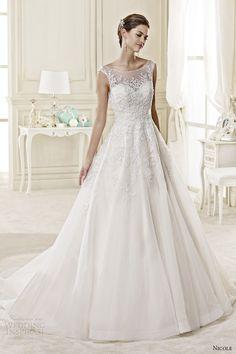 nicole spose bridal 2015 style 29 niab15003di sheer a line wedding dress