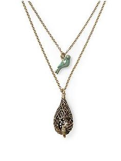 Bird and Nest Necklace, by Lucky Brand