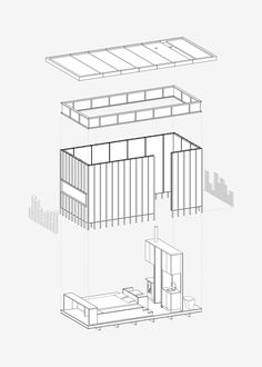 This axonometric drawing explains the building components that create the cabin, including everything from the floor plate and slate cladding, to the lantern of windows and up to the roof. Window Reveal, Axonometric Drawing, Planer Layout, Casa Patio, Snowdonia National Park, Cabin Design, House And Home Magazine, Cabin Rentals, Little Houses