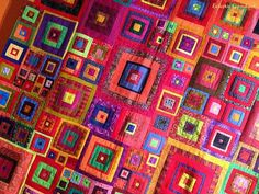 Jewel Squares               Fashion and Textile Museum                The Foolish Virgins             This is Kaffe's feeling wall...