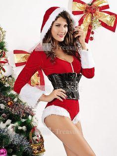 2012 Sexy Red Siamese Christmas Sexy Santa Costumes