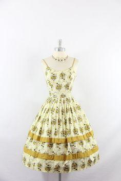 1950s Vintage Dress  Cotton Sundress  by VintageFrocksOfFancy, $160.00