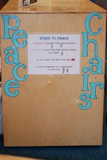 Peace Chairs; no more tattling!