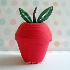 Quilly Nilly: Apple Lidded Trinket Box