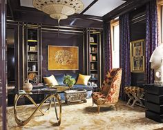 Purple has long been considered the color of royalty, and becomes especially opulent when combined with gold detailing, like in this Manhattan home. Tour the rest of the home.   - ELLEDecor.com