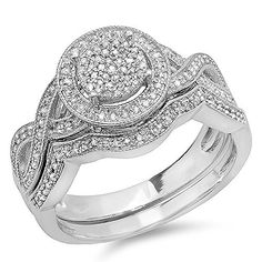 0.55 Carat (ctw) Sterling Silver Round White Diamond Womens Micro Pave Engagement Ring Set 1/2 CT (Size 4.5) DazzlingRock Collection http://www.amazon.com/dp/B00HX97XR4/ref=cm_sw_r_pi_dp_Q7Tmvb1M2001A