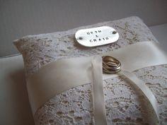 CUSTOM ring pillow by OliveandFern on Etsy, $36.00