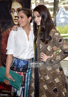 Actresses Richa Chadha and Aishwarya Rai attend 'Sarbjit' Photocall during The 69th Annual Cannes Film Festival at the Palais des Festivals on May 15, 2016 in Cannes, France.