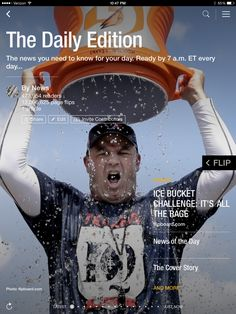 The Ice Bucket Challenge, the week's best photos and what's new at the box office. Check out today's edition: http://flip.it/dailyedition