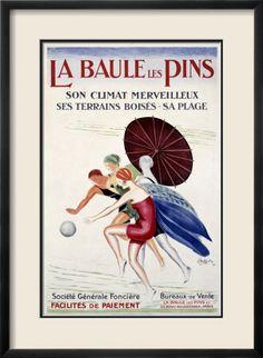 La Baule les Pins reproduction procédé giclée par Leonetto Cappiello sur AllPosters.fr