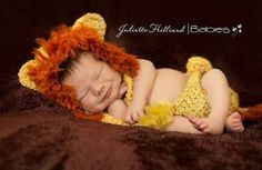 LION!! Crochet Newborn Animal Hat Patterns