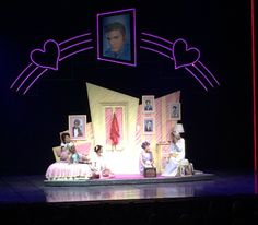 set- cool look, not colors & drawn-in style. NOT neon & Elvis Set Design Theatre, Stage Design, Grease Play, Grease Musical, Grease Is The Word, Broadway Stage, Feelin Groovy, Stage Props, Cooler Look