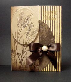 by Reddyisco - Cards and Paper Crafts at Splitcoaststampers Pretty Cards, Cute Cards, Paper Cards, Men's Cards, Thanksgiving Cards, Fall Cards, Card Sketches, Sympathy Cards, Creative Cards