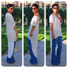 OOTD: Fab High Low Top + Wide Leg Jeans
