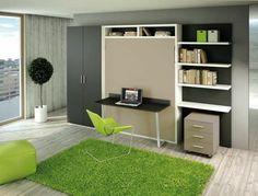grün farbgestaltung bauen jugendliche Schrankbett selber