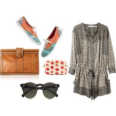 iced coffee date, created by athensstreetstyle on Polyvore