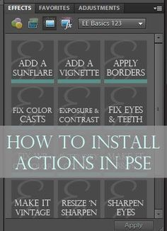 Detailed tutorial on for installing actions in PSE (on a PC and Mac) via @Amanda Padgett