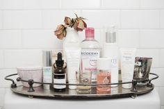 Susan's must-have skin care products: Neocutis Lumiere Riche Anti-Aging Intensive Hydrator, Skin Care Lab C + E Ferulic Serum, Avene Cream For Intolerant Skin, Bioderma Crealine, H2O Makeup Remover, Bio-Oil, Vivite Daily Facial Cleanser, Avene Hydrance Optimale Riche.