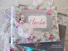 Elena Arts: Libro de firmas para Claudia. 29/05 Photo Album Scrapbooking, Scrapbook Albums, Ideas Para Fiestas, Shabby Chic, Baby Shower, Cards, Design, Notebooks, Tela