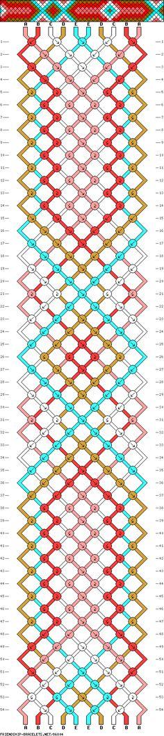 #86804 10 Strands, 5 Colors, 2ea - friendship-bracelets.net