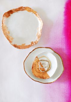 DIY Projects for Teenagers - Handmade Jewelry Dishes With Copper Touches - Cool Teen Crafts Ideas for Bedroom Decor, Gifts, Clothes and Fun Room Organization. Summer and Awesome School Stuff Sharpie Crafts, Clay Crafts, Fun Crafts, Decor Crafts, Weekend Projects, Cool Diy Projects, Simple Projects, Teen Projects, Clay Projects