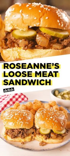 Need Sandwich ideas? Summerds are best enjoyed with yummy summer sandwiches. So, here are the best sandwich recipes which you would surely want to try. Roseanne Loose Meat Sandwich Recipe, Loose Meat Sandwiches, Made Right Sandwich Recipe, Sandwiches For Dinner, New Recipes, Dinner Recipes, Cooking Recipes, Cooking Bacon, Cooking Videos