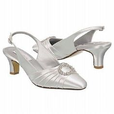 NIB White Satin Wedding Bridal Shoes Rhinestone accent avail in sz 5 - 11 Ann