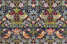 The Strawberry Thief Design ~ William Morris ~ Cross Stitch Pattern ~ PDF on CD William Morris Wallpaper, William Morris Art, Morris Wallpapers, The Strawberry Thief, William Morris Patterns, Decoupage, Clark Art, Needlepoint Canvases, Arts And Crafts Movement