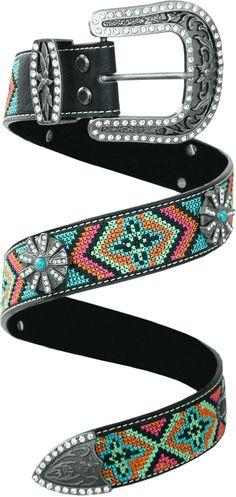 fff7126dadc cinto feminino colorido indigina em couro e strass p10150 - Busca na Loja  Cowboys - Moda Country