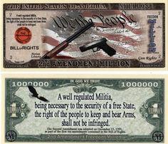 2nd Amendment 2 Million Dollar Bill