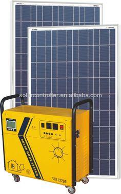 Sustentabilidade Energética Solar Termosolar e Eólica : No-Break com Sistema Fotovoltaico Solar 1000W  E...